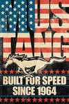 Ford - Mustang Flag Poster