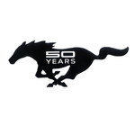 "24"" 50 Years Cutout Mustang Running Horse Sign"