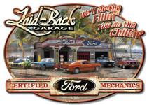 Mustang Dream Garage Embossed Metal Sign