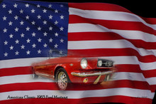 Mustang and Flag Sign 11 x 17