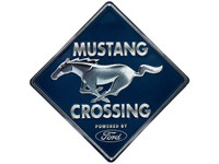 Mustang Crossing - Embossed Tin Sign