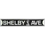 Shelby Avenue - Embossed Tin Sign