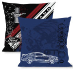Pillow -Throw - Mustang GT/Blueprint & Diagonal Stripe