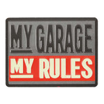 MY GARAGE MY RULES Embossed Tin Magnet