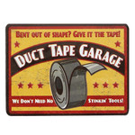 DUCT TAPE GARAGE Embossed Tin Magnet