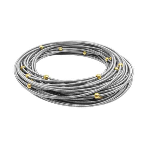 masai stainless steel bracelets w gold spheres set 20