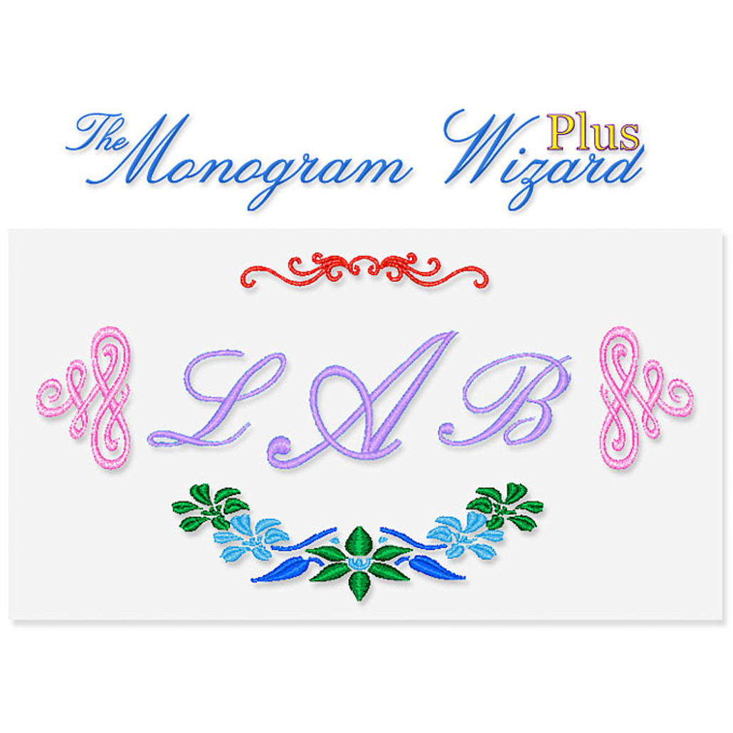 Monogram Wizard Plus Embroidery Software
