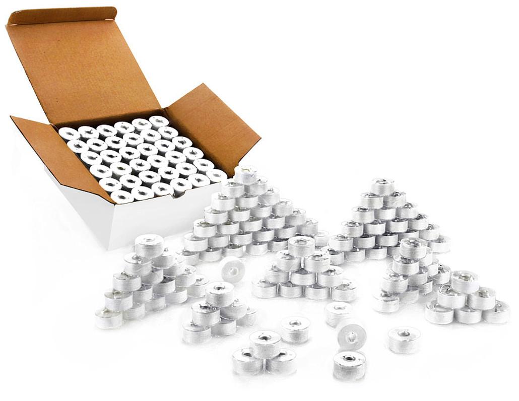 """Polystar Prewound Plastic Style """"M"""", SA156 and 15J Bobbins 144 ea"""