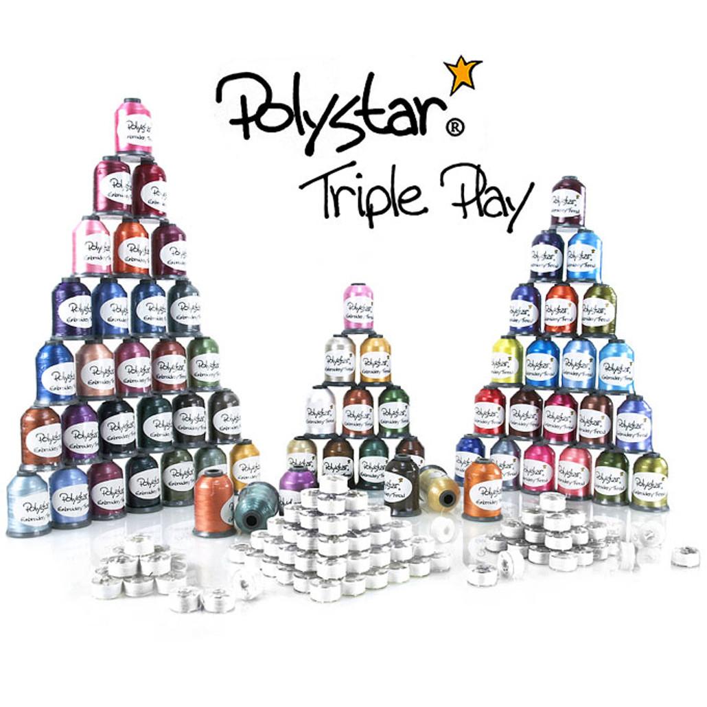 Polystar Triple Play Embroidery Thread Package