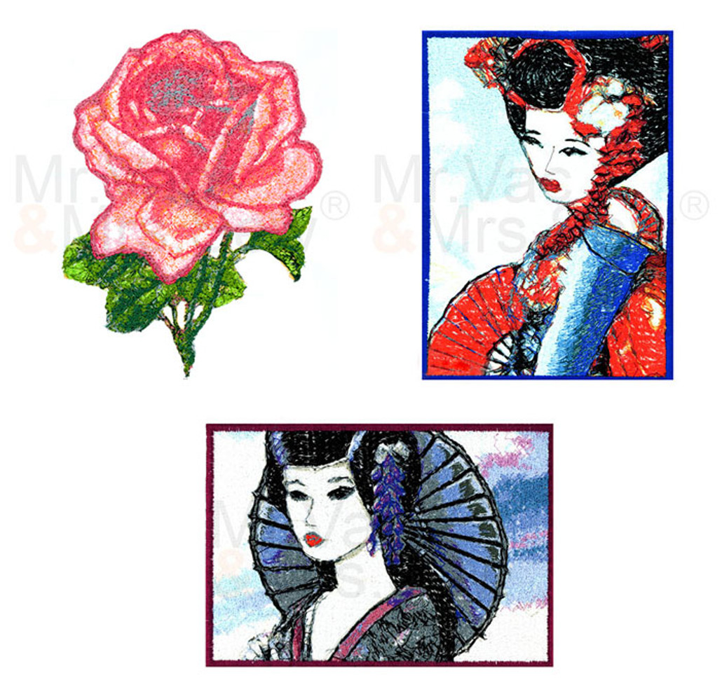 FREE Embroidery Designs - PhotoStitch Designs Pack
