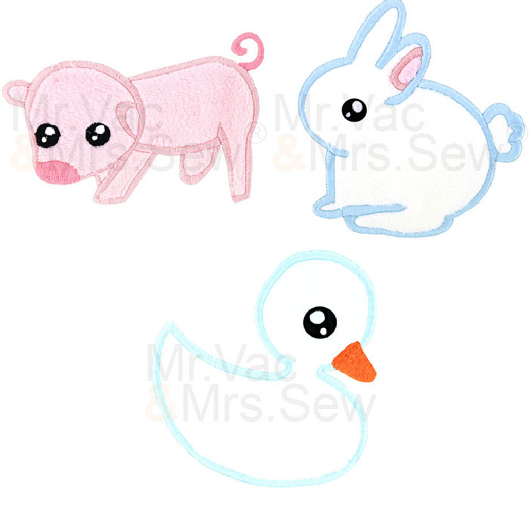 FREE Embroidery Design - Meet the Farm Animals Applique Pack