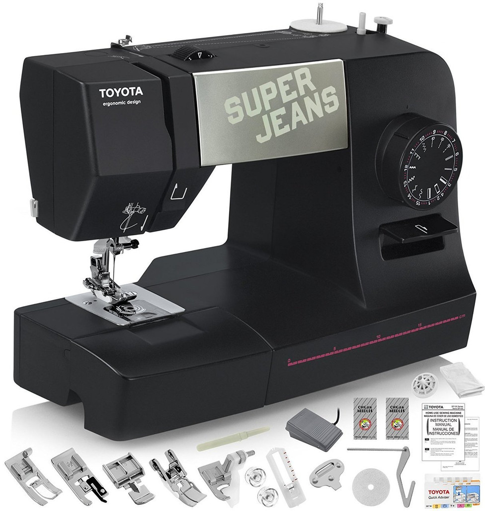 TOYOTA Super Jeans J15 Sewing Machine with 15 Built-In Stitches