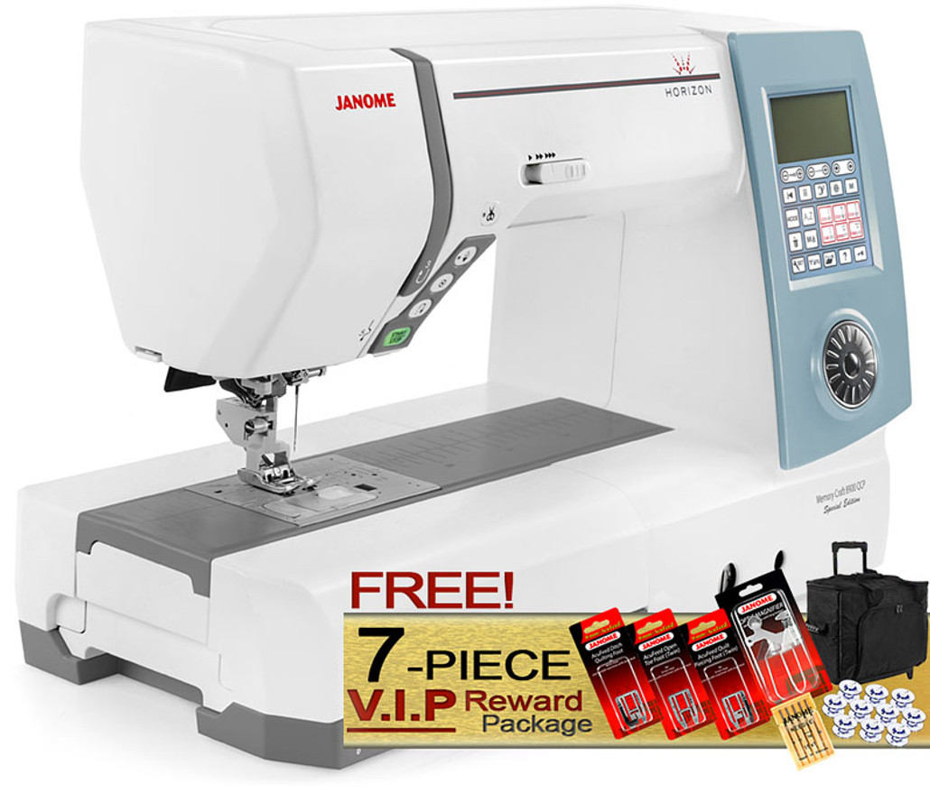 Janome Memory Craft Horizon 8900 QCP Special Edition Computerized Sewing Machine w/ FREE! 7-Piece V.I.P Reward Package and FREE! Next-Day Shipping