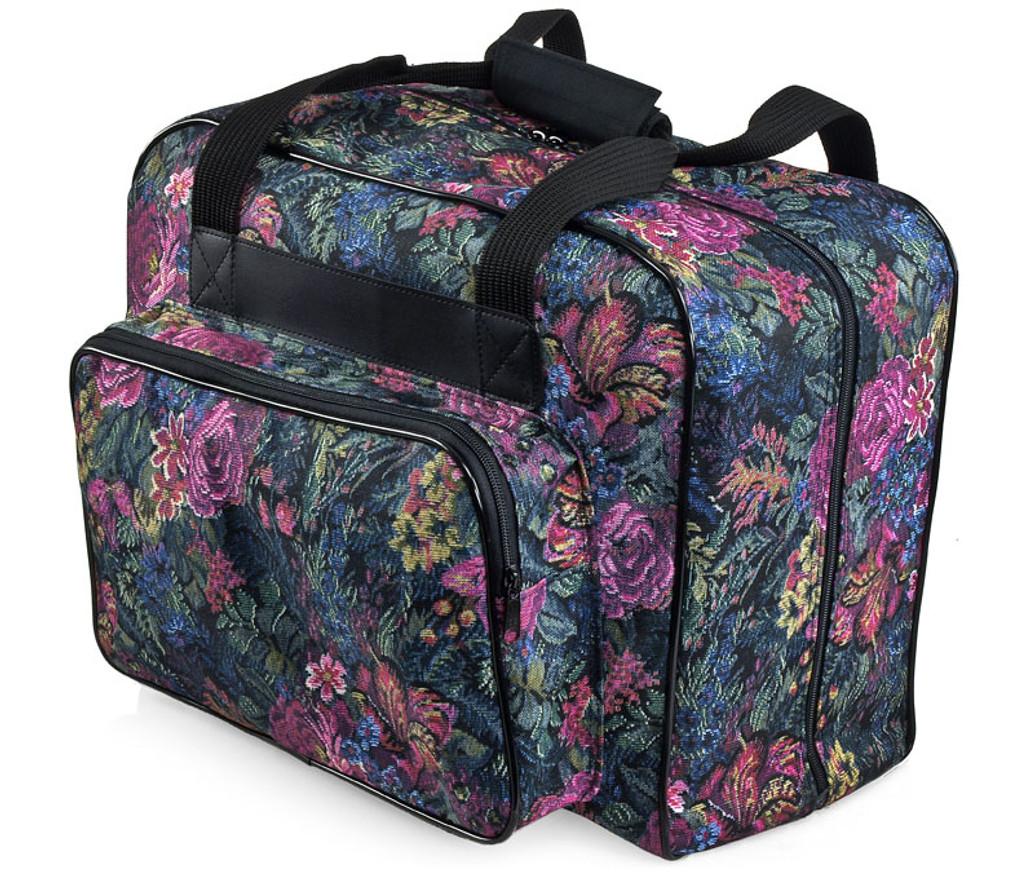Distinctive Large Floral Pattern Premium Sewing Machine Universal Tote Bag