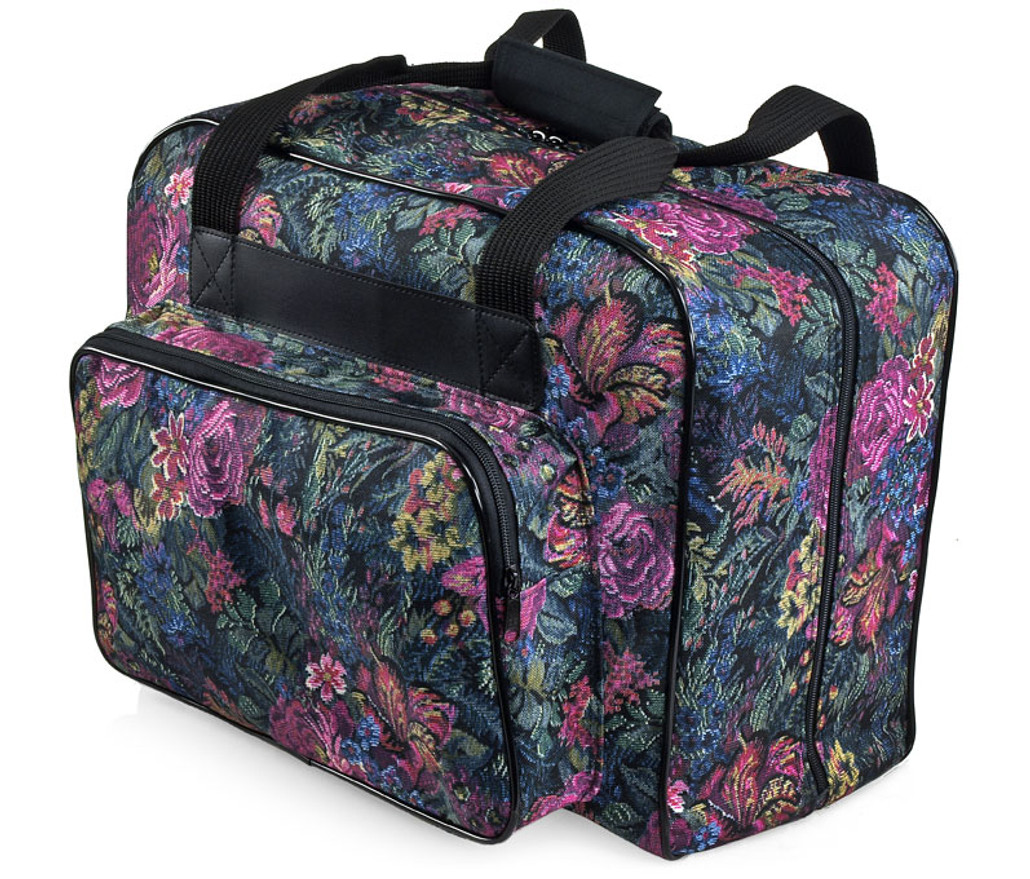 80ad696968889 distinctive large floral pattern premium sewing machine universal tote bag