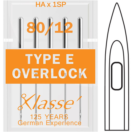 Klasse Overlock Type E 80-12 Sewing Needles
