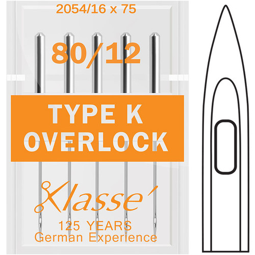 Klasse Overlock Type K 80-12 Sewing Needles