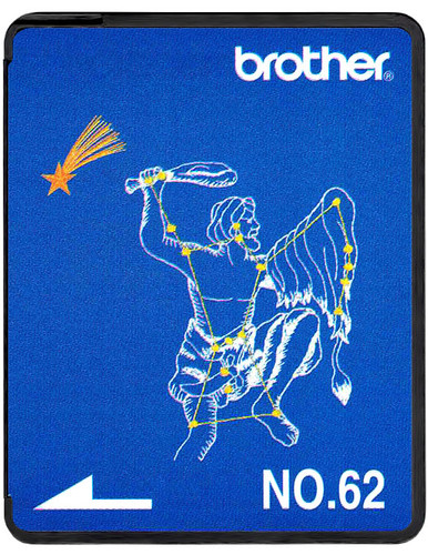 Brother Embroidery Card SA362 No.62 - Zodiac