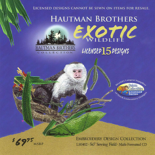 Dakota Collectibles Hautman Brothers Exotic Wildlife Embroidery Design CD