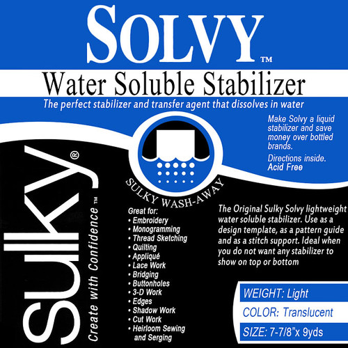 Sulky Solvy Stabilizer 8 in X 9 yds
