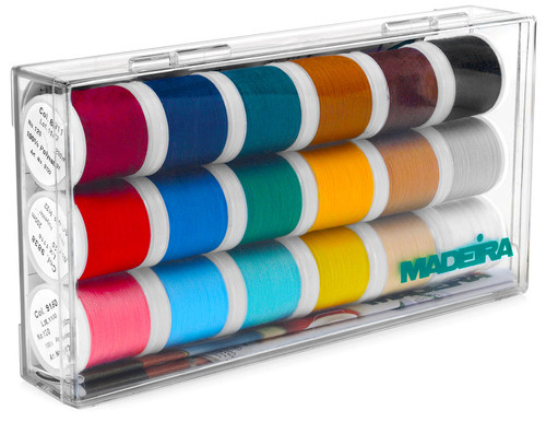 Madeira 18-Spool Starter Set of Aerofil Sewing Thread