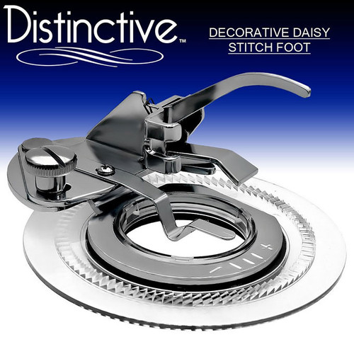 Distinctive Decorative Daisy Stitch Sewing Machine Presser Foot w/ Free Shipping