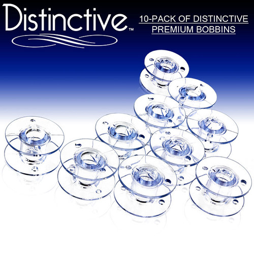 Distinctive Style SA-156 and 15J Sewing Machine Bobbins for Brother Singer And Janome – 10 Pack