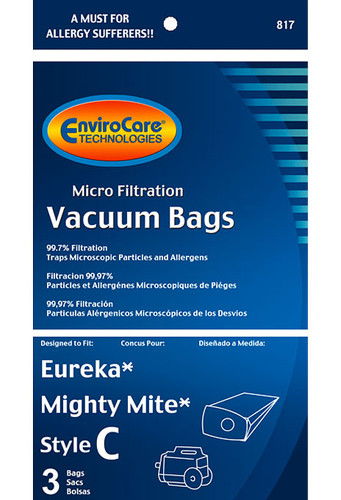 EnviroCare® Micro-Filtration White Westinghouse Style VIP 9020 Vacuum Cleaner Bags