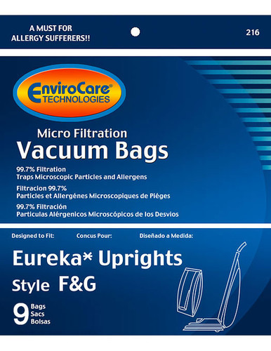 EnviroCare® Micro-Filtration Kenmore 5062 Upright Vacuum Cleaner Bags