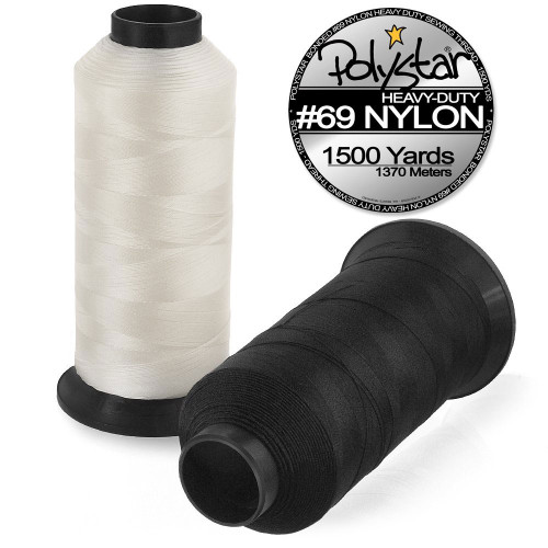 Polystar Heavy-Duty #69 Bonded Nylon Sewing Thread - 1500 Yard Spool