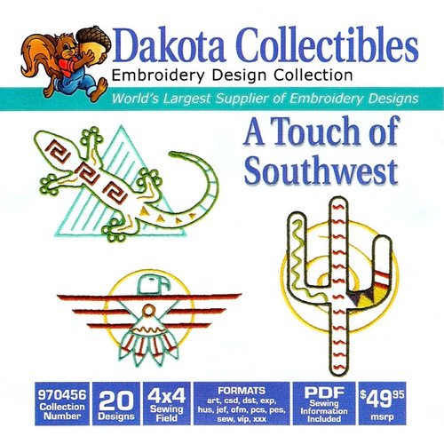 Dakota Collectibles A Touch of Southwest Embroidery Design CD
