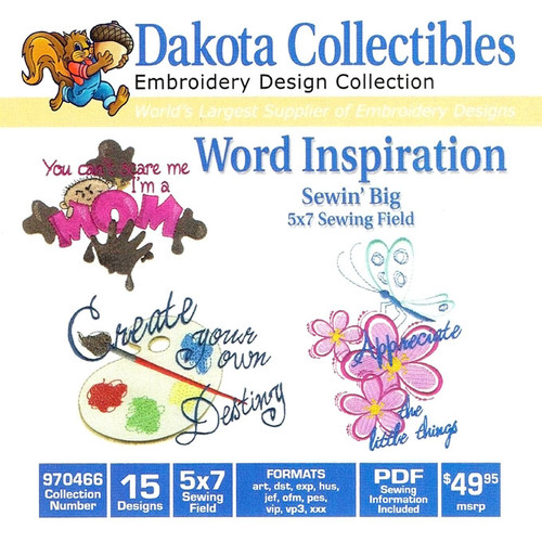 Dakota Collectibles Word Inspiration Embroidery Design CD