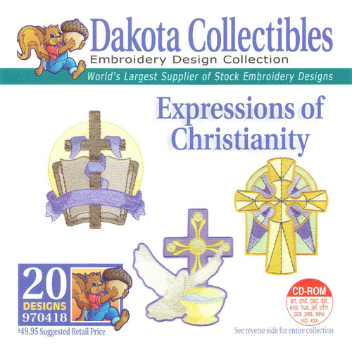 Dakota Collectibles Expressions of Christianity Embroidery Design CD