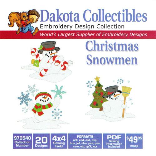 Dakota Collectibles Christmas Snowmen Embroidery Design CD