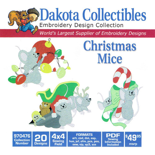 Dakota Collectibles Christmas Mice Embroidery Design CD