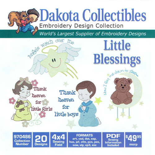 Dakota Collectibles Little Blessings Embroidery Design CD