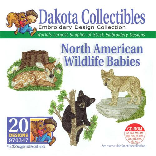 Dakota Collectibles North American Wildlife Babies Embroidery Design CD