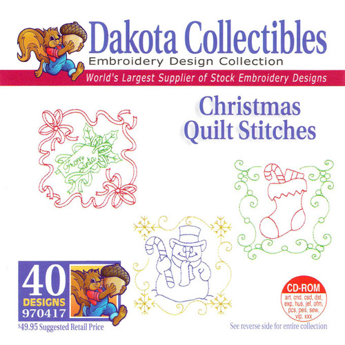 Dakota Collectibles Christmas Quilt Stitches Embroidery Design CD