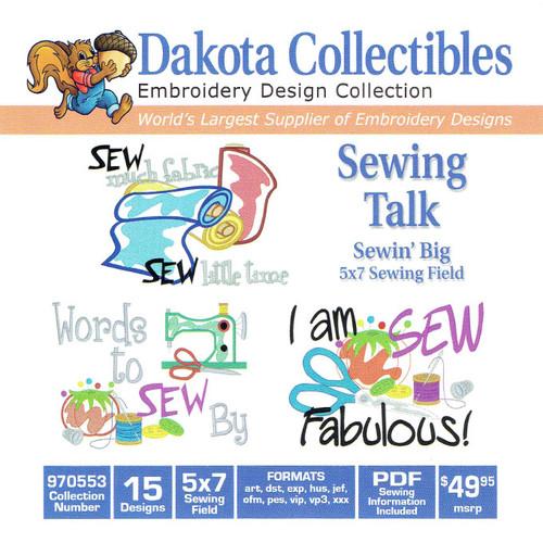 Dakota Collectibles Sewin' Big Sewing Talk Embroidery Design CD
