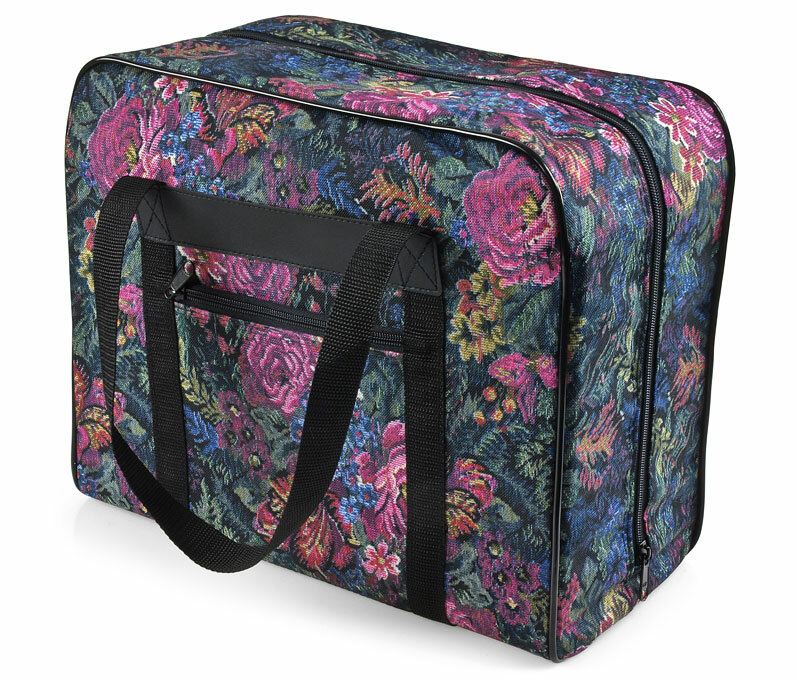 Distinctive Small Floral Sewing Machine Tote Bag