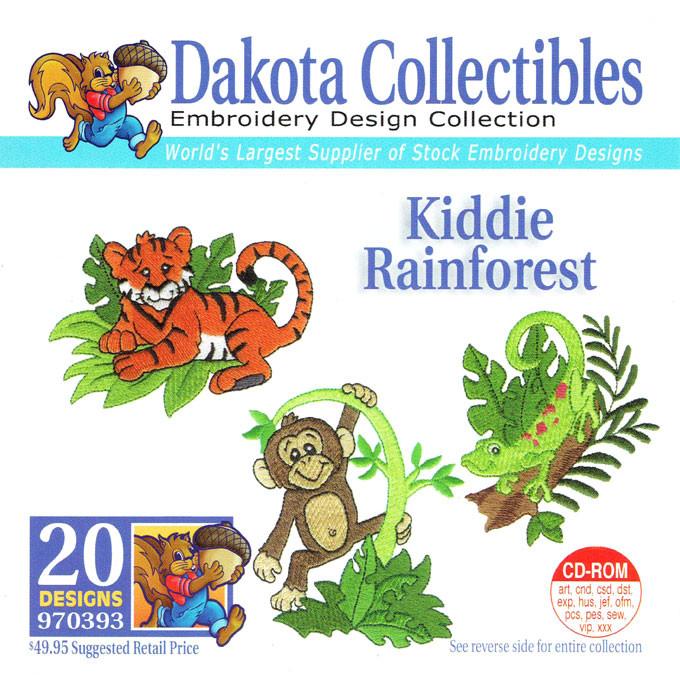 Dakota Collectibles Kiddie Rainforest Embroidery Design Cd