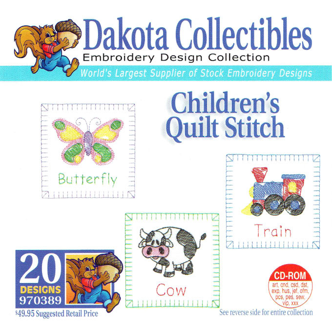 Dakota Collectibles Childrens Quilt Stitch Embroidery Design Cd