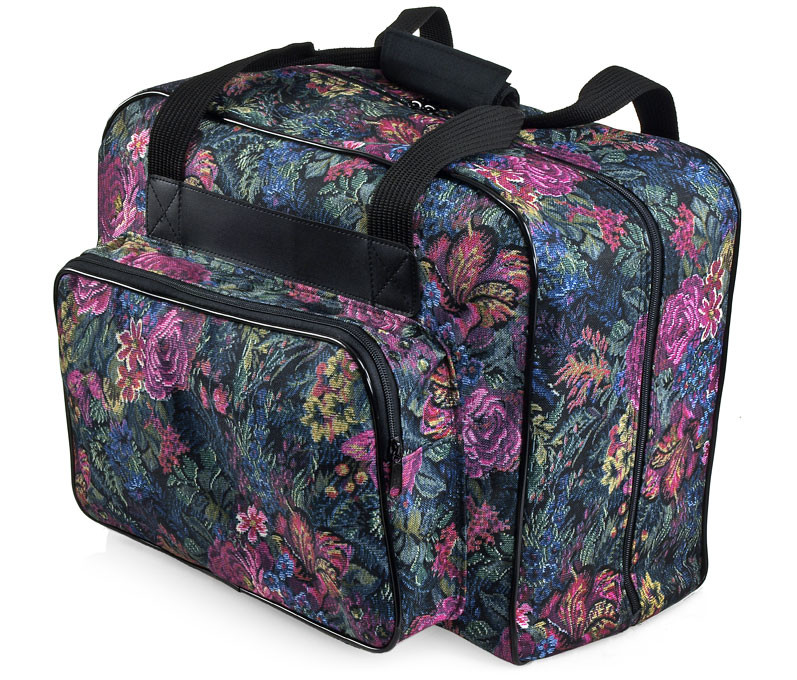 distinctive large floral sewing machine tote bag