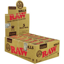 Raw - Unrefined Rolls King Size Slim (5 METER) (24 pack Display)