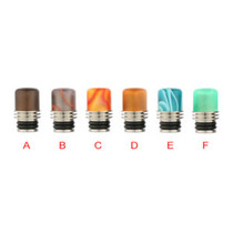 Drip Tips - Assorted Short Acrylic & Stainless Steel Heatsink Style Drip Tip #32
