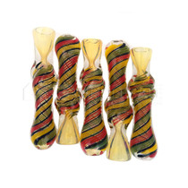 Rasta Work Twisted Body Chillum (5pack)