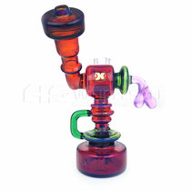 "7"" Dank Glass Side Car Recycler Water Pipe"
