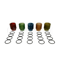 Smok TFV8 Snake Skin Drip Tips  Assorted Colors Pack Of 5 (MSRP $4.99ea)