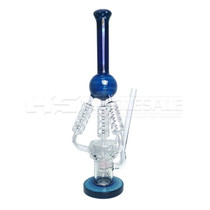 "19"" Assorted 4 Coil Recycler Perc Water Pipe (MSRP $180.00)"
