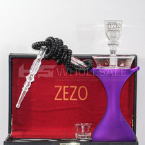 Zezo Round Glass Hookah With Light (MSRP $109.99)